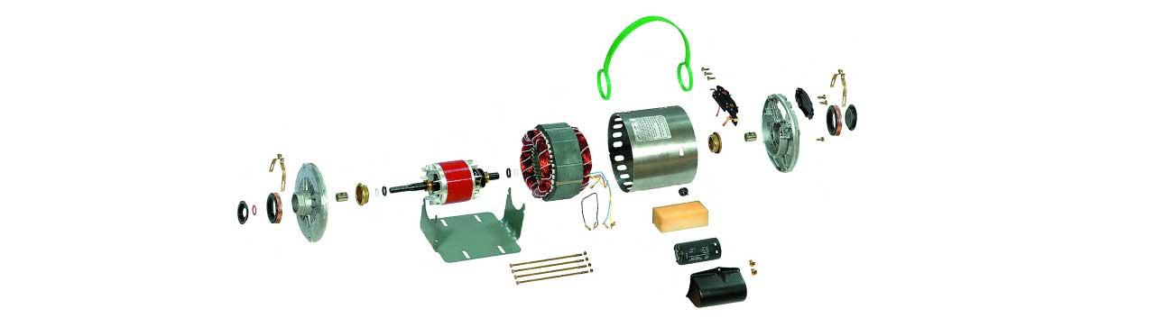 اجزای الکتروموتور کولر آبی موتوژنSP