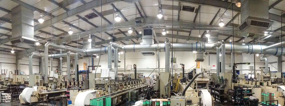 استفاده از هواکش آکسیال صنعتی برای تهویه هوا در کارخانه ها