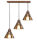 آویز سقفی مدل مخروطی سه شعله خطی دارکار