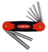 آچار آلن چاقویی قاب پلاستیکی 6عددی A-KRAFT-AA084H601 2.5*8mm