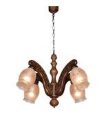 لوستر چوبی مدل مهسا چهار شعله دارکار