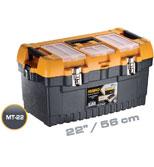 جعبه ابزار با قفل فلزی به همراه اورگانایزر 22 اینچ Mano MT22