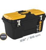 جعبه ابزار با قفل فلزی به همراه اورگانایزر 22 اینچ Mano MG22 کد MG22