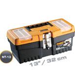 جعبه ابزار با قفل فلزی به همراه اورگانایزر 13 اینچ Mano MT13  کد MT13