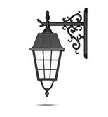 چراغ دیواری شب تاب مدل ونیز شاخه رز سرپایین