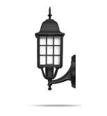 چراغ دیواری شب تاب مدل مشبک شاخه فانتزی سربالا