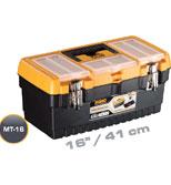جعبه ابزار با قفل فلزی به همراه اورگانایزر 16 اینچ Mano MT16  کد MT16