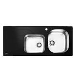 سینک ظرف شویی شیشه ای اخوان-مدل183