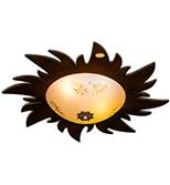 لوستر سقفی کوچک مدل خورشید دارکار