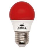 لامپ حبابی پارمیس مدل LED BULB 5W قرمز