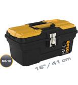 جعبه ابزار با قفل فلزی به همراه اورگانایزر 16 اینچ Mano MG16  کد MG16
