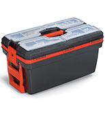 جعبه ابزار چرخدار با اورگانایزر 24 اینچ AbzarSara Po09M