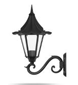 چراغ دیواری شب تاب مدل چتری شاخه سناتور سربالا