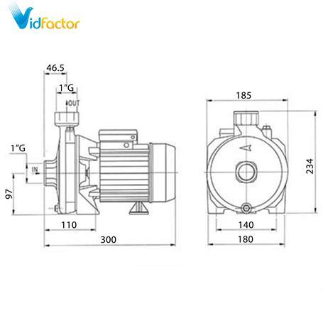 الکتروپمپ بشقابی تکفاز دیزل ساز  سری DM100.00