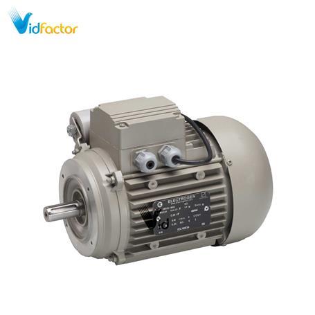 الکتروموتور تک فاز رله ای آلومینیومی 1500دور الکتروژن CR-1.2hp B34-71