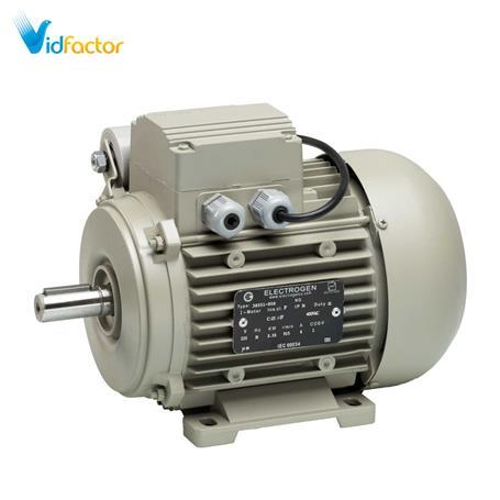 الکتروموتور تک فاز رله ای آلومینیومی 1500دور الکتروژن CR-2hp B5-90