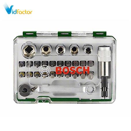 ست 27 تایی سرپیچ گوشتی همراه با آچار Bosch  2607017160