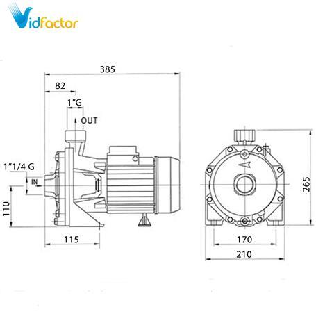 الکتروپمپ دیزل ساز سری DB160/01