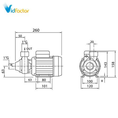 الکتروپمپ محیطی دیزل ساز  سری DM45