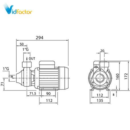 الکتروپمپ محیطی دیزل ساز  سری DM80